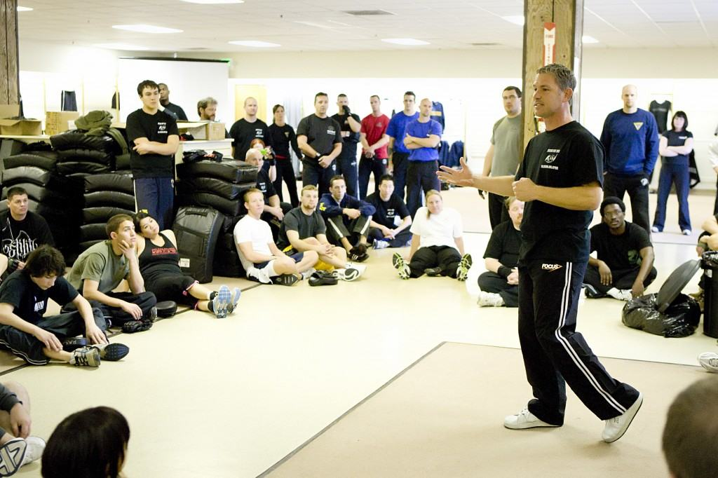 John Whitman Talking to Krav Maga Alliance Group