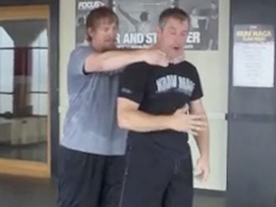 Choke From Behind With A Push Thumbnail