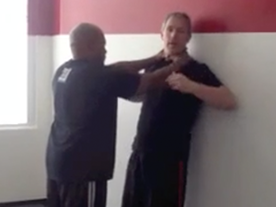 Choke From The Front Against A Wall Thumbnail