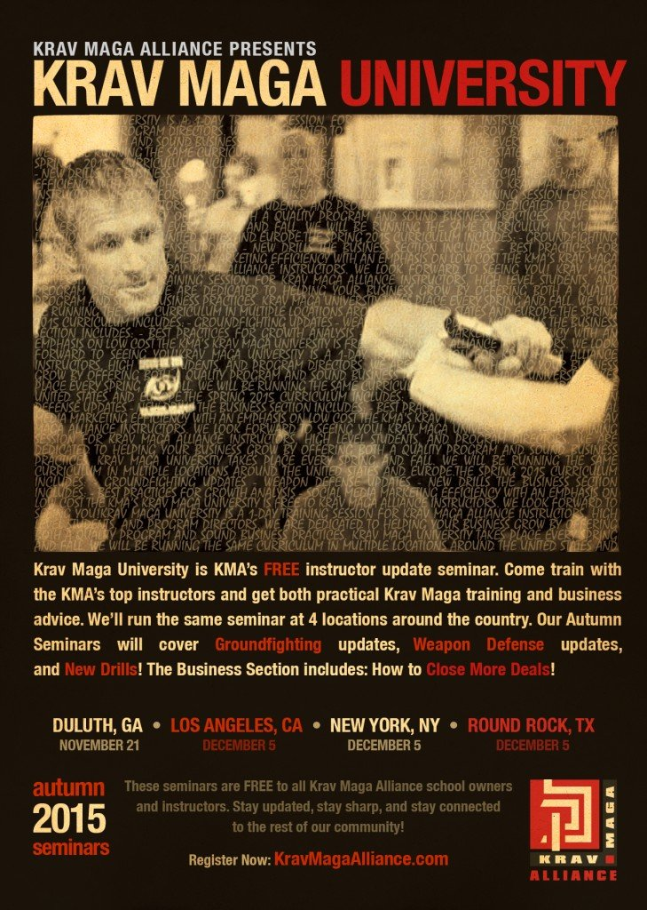 Krav Maga Alliance - Krav Maga University - December 5, 2015