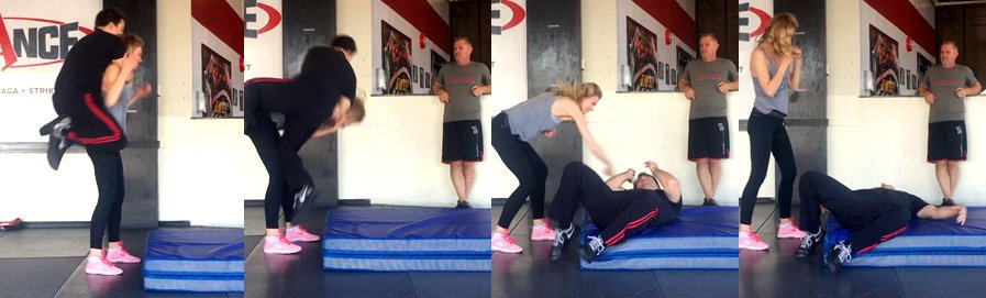 John Whitman Trains Bar Paly - Krav Maga Throws